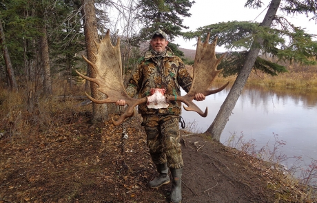 Happy Moose Hunter with Nice Moose