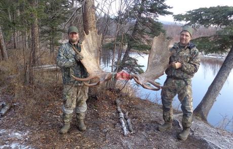 Two Buddies and Nice Moose