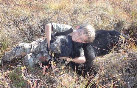 black bear moose hunting