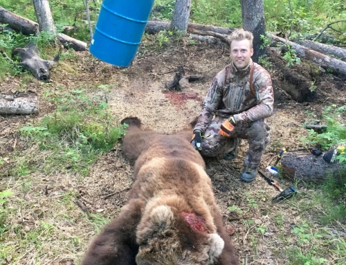 A Happy Grizzly Bear Hunter